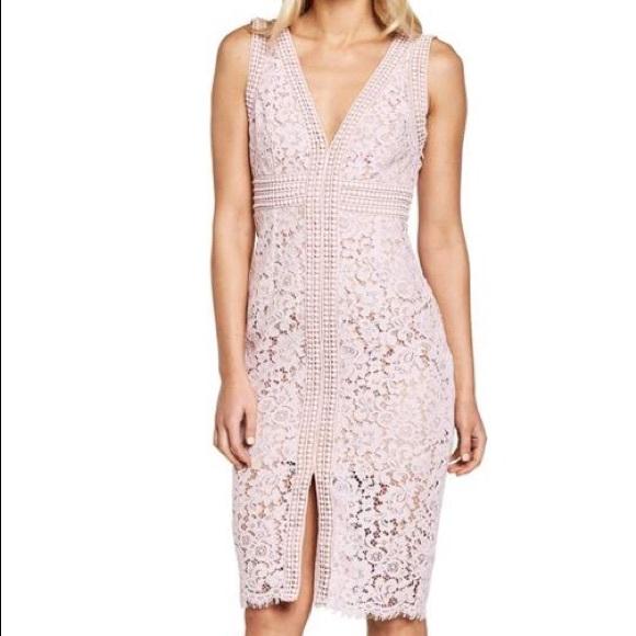 Bardot Dresses & Skirts - Bardot Margot Front Slit Lace Sheath Dress 4